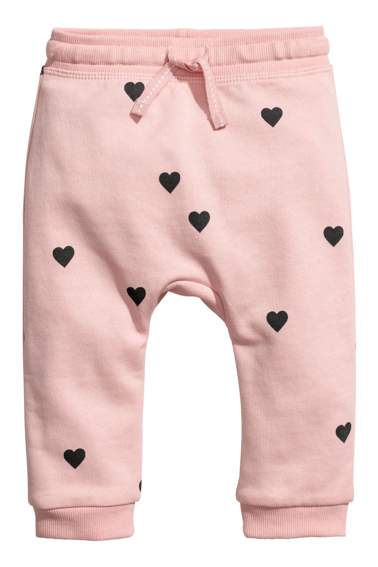 Joggers - Powder pink/Hearts - Kids | H&M