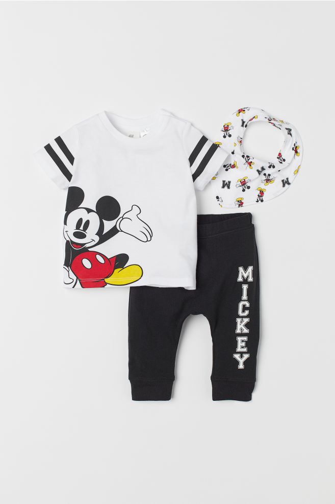 3ab20cc1 T-shirt and trousers - White/Mickey Mouse - Kids | H&M ...