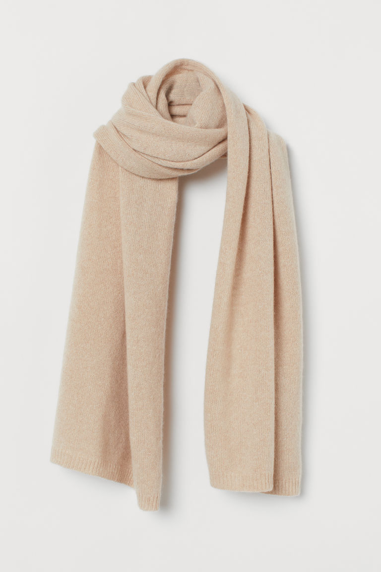 Cashmere scarf - Light beige - Ladies | H&M