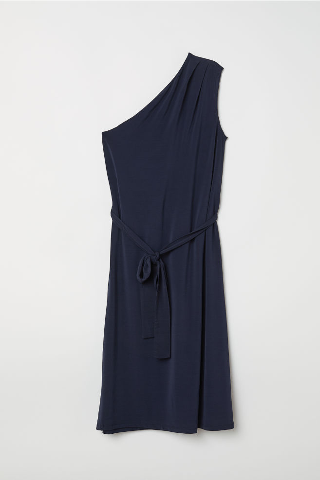 ba772ec188e7d One-shoulder Dress - Dark blue - Ladies