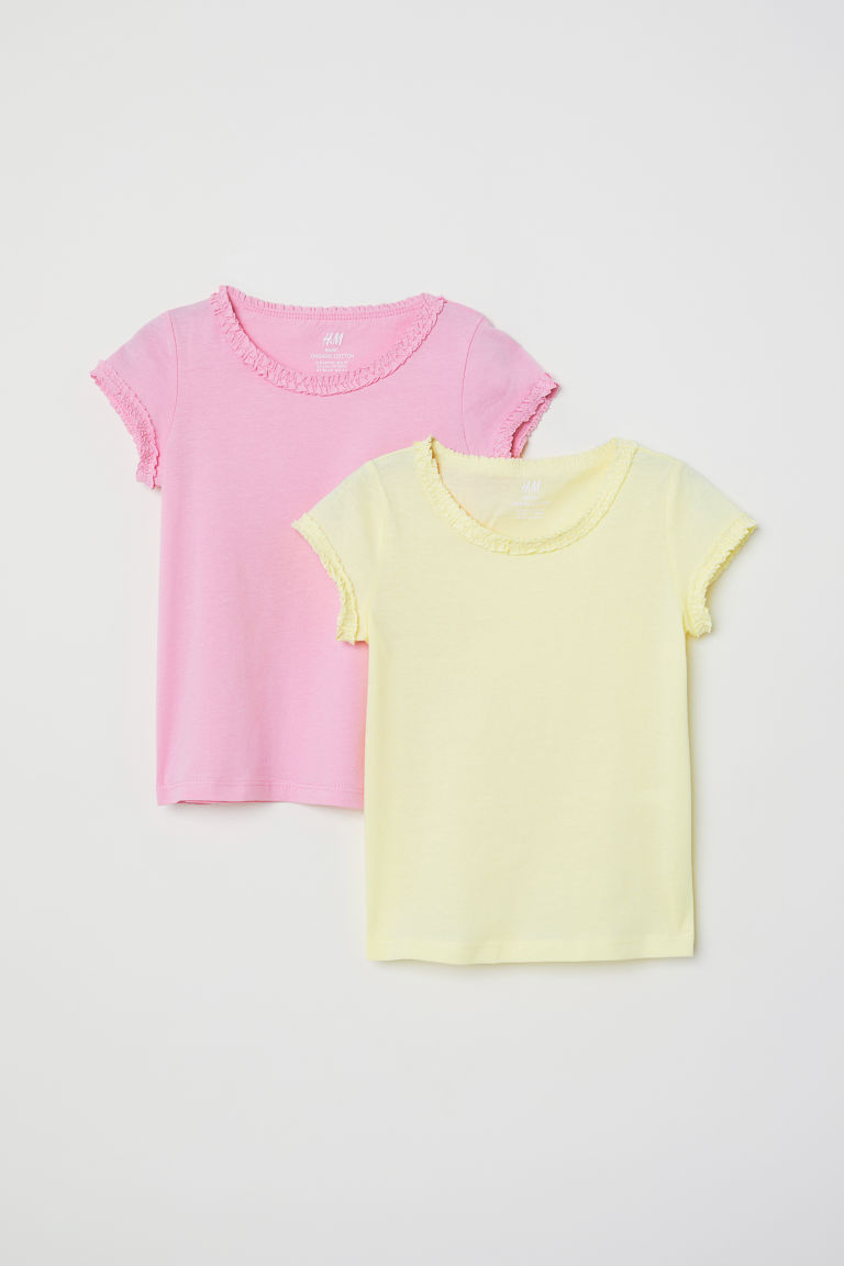 2-pack jersey tops - Light yellow - Kids | H&M CN