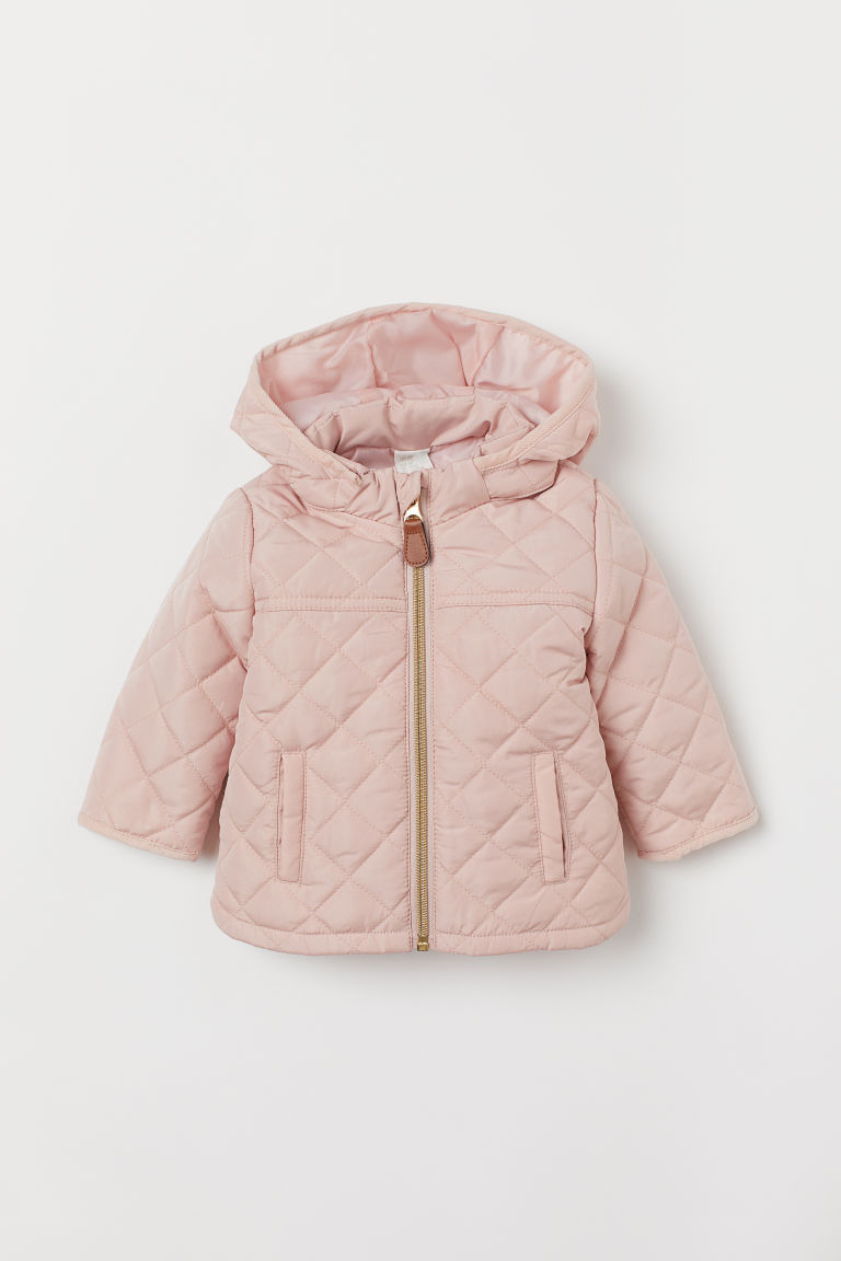 Quilted Jacket - Powder pink - Kids | H&M US