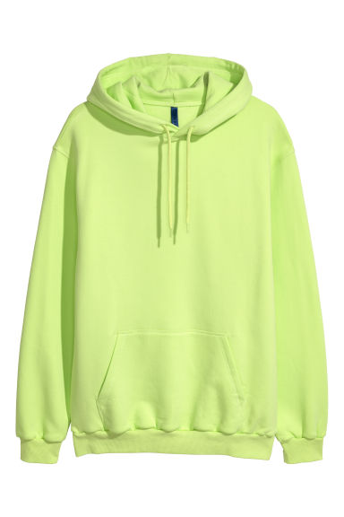 Hooded top - Neon green - Men | H&M