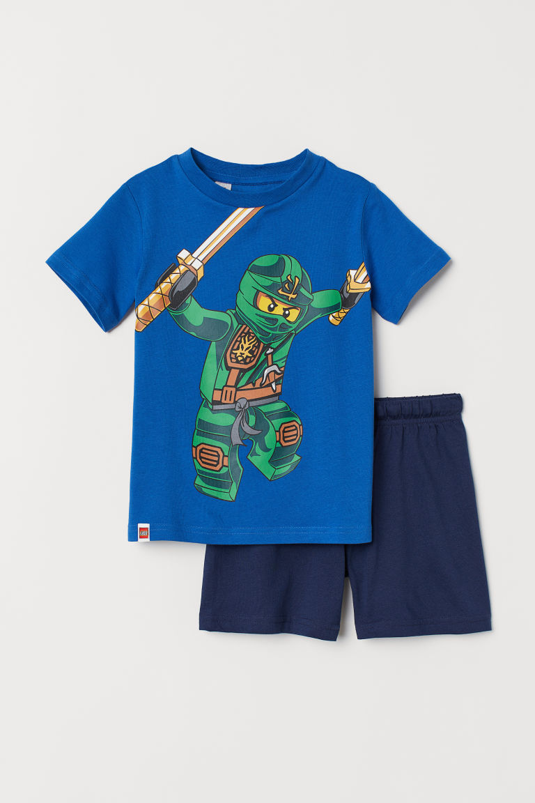 Printed pyjamas - Blue/Ninjago - Kids | H&M IN