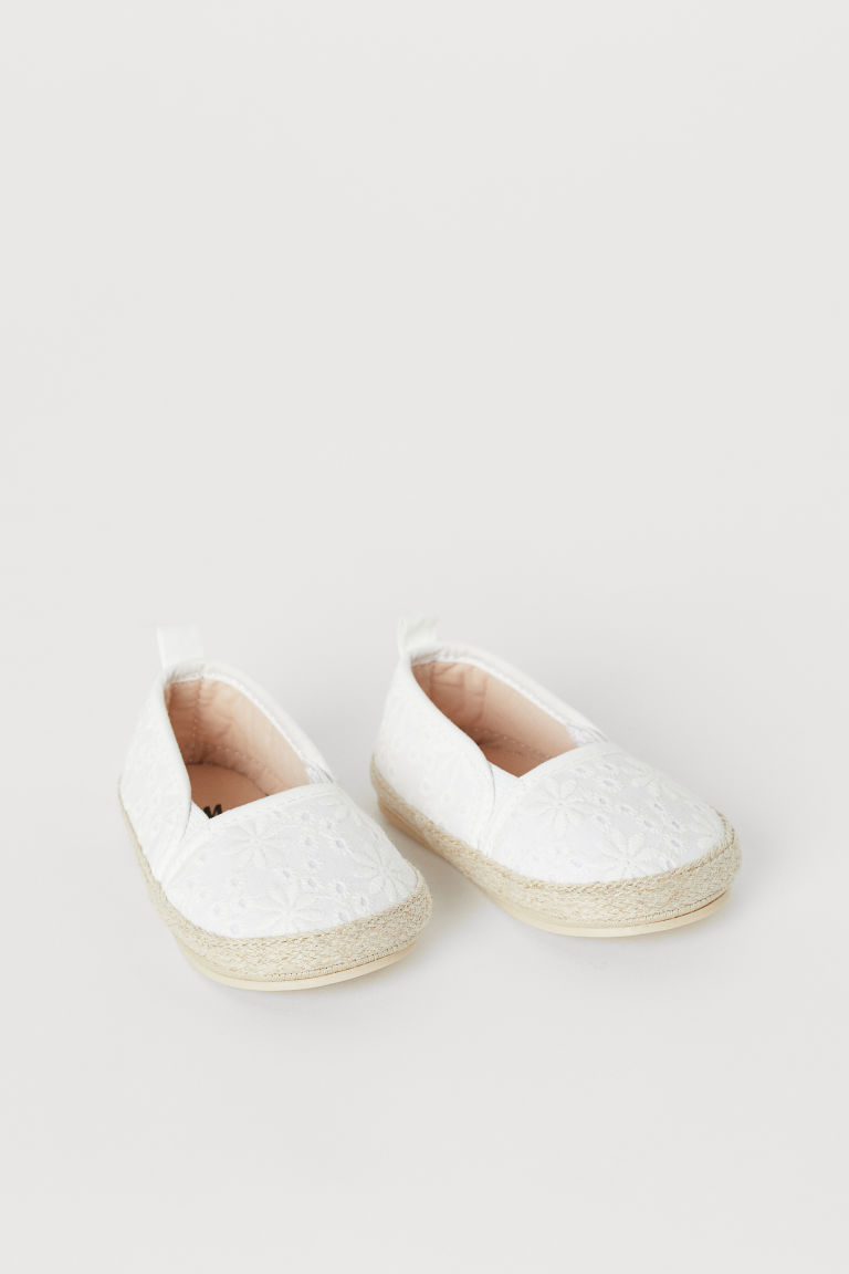 Espadrilles - White/embroidered - Kids | H&M US