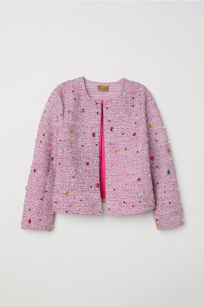 8d3d8f9f Perlebroderet jakke - Rosa - DAME | H&M ...