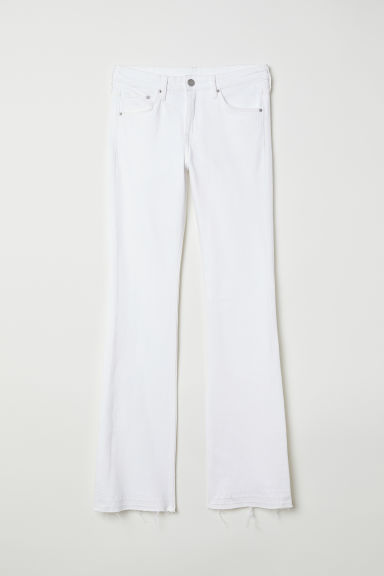 Bootcut Regular Jeans - White denim -  | H&M