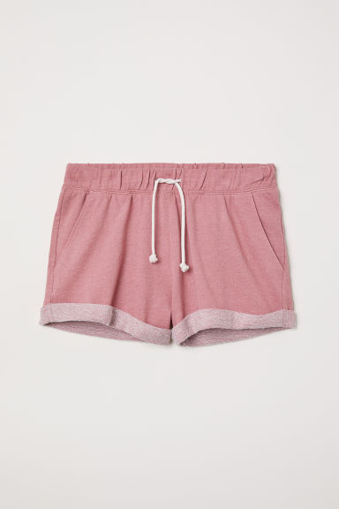 Shorts in felpa - Rosa vintage - DONNA | H&M IT