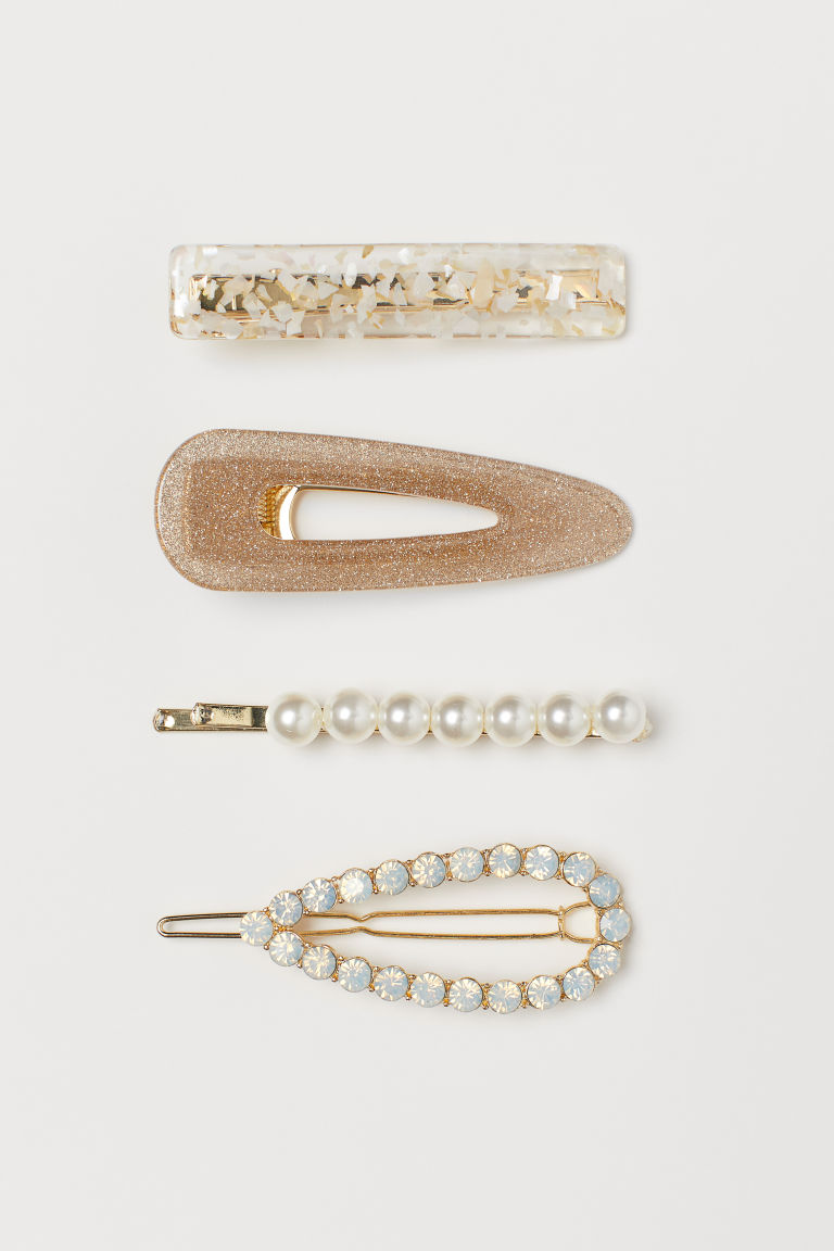 4-pack Hair Clips - Gold-colored - Ladies | H&M US