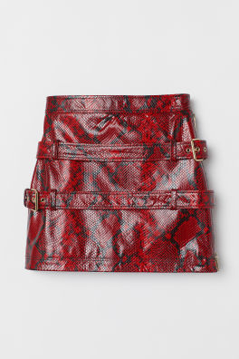 cc63c618025 Snakeskin-look Leather Skirt. SAVE AS FAVORITE. Farren Jean Andrea