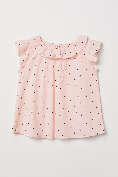 Flounced blouse - Light pink/Spotted - Kids | H&M