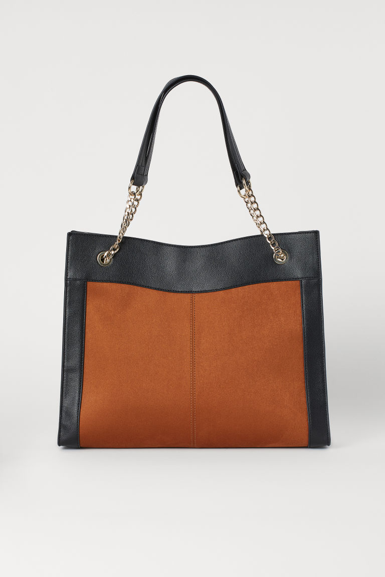 Large Handbag - Brown/black - Ladies | H&M US