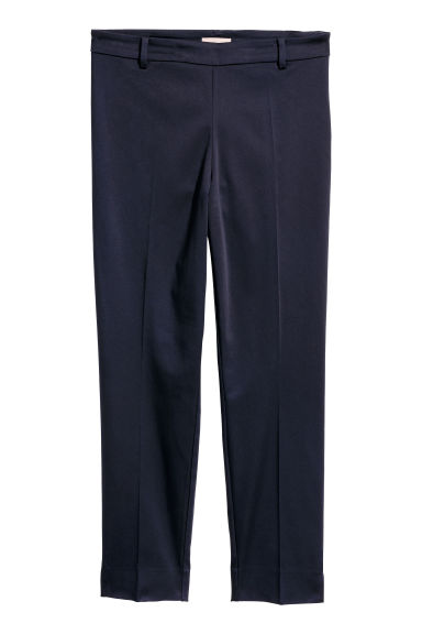 H&M+ Tailored trousers - Dark blue - Ladies | H&M CN