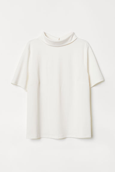 Top with a collar - White - Ladies | H&M