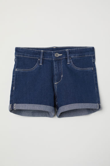Denim shorts - Dark denim blue - Kids | H&M CN