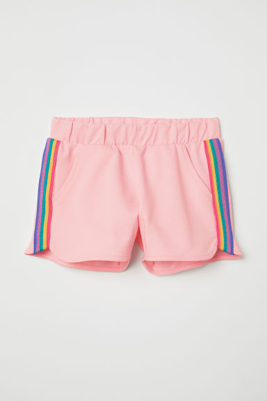 Sweatshirt shorts - Light pink - Kids | H&M CN