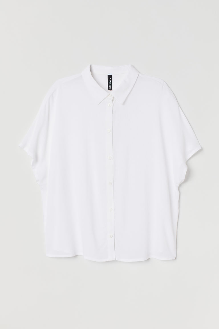 Blouse - White - Ladies | H&M US