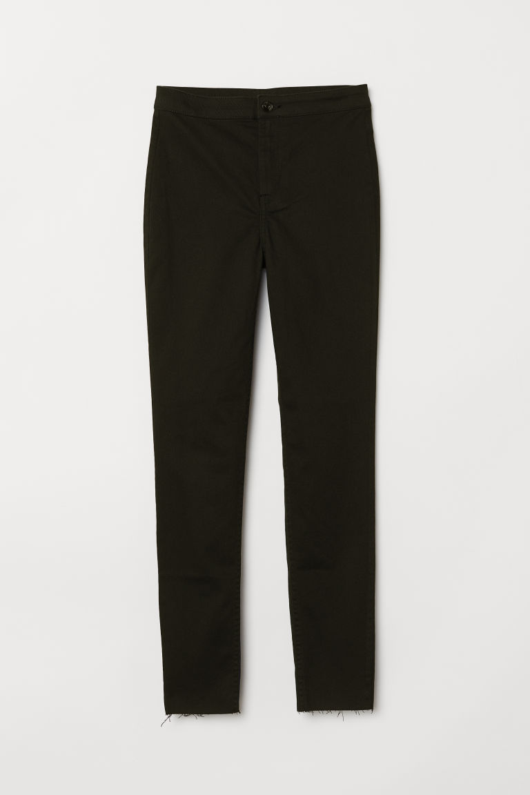 Twill trousers - Black -  | H&M CN