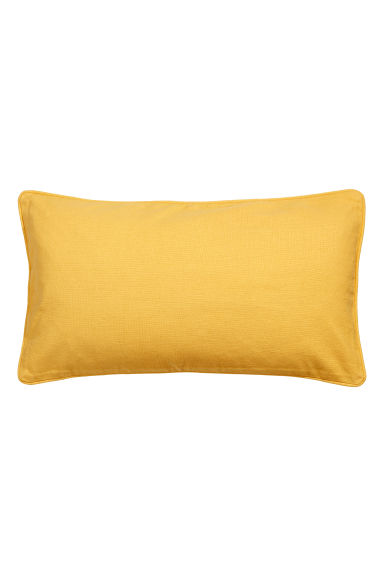 Cushion cover with piping - Light yellow - Home All | H&M GB