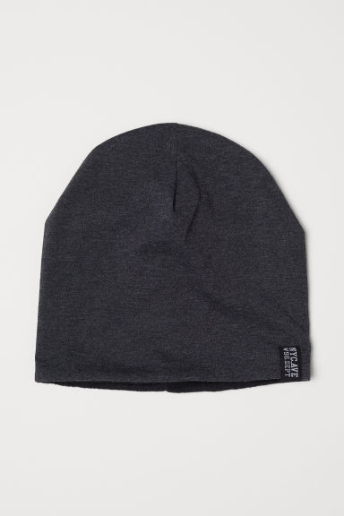 Fleece-lined hat - Dark grey marl - Kids | H&M