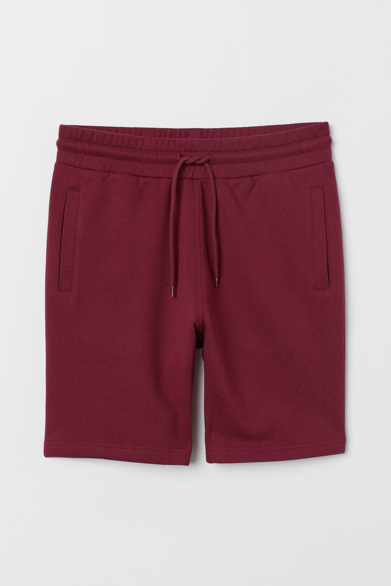 Sweatshort - Bordeauxrood - HEREN | H&M BE
