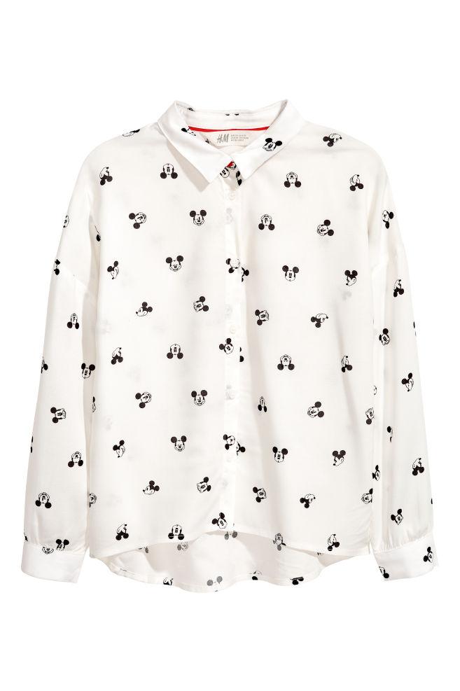 a11a68cb4cbcc3 Koszula wiskozowa - Biały/Myszka Miki - Dziecko   H&M ...
