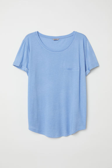 H&M+ T-shirt - Light blue - Ladies | H&M CN