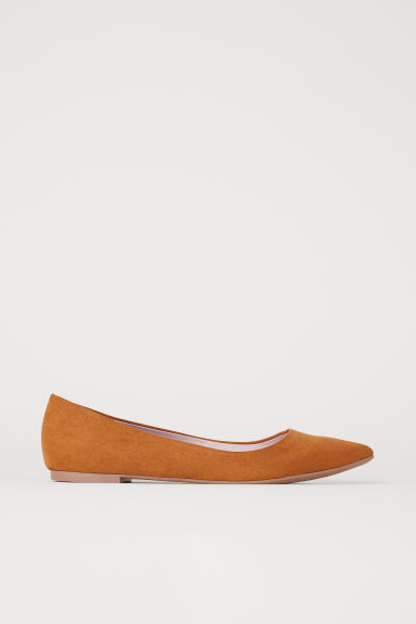 Pointed ballet pumps - Camel - Ladies | H&M