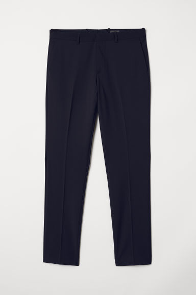 Pantaloni misto lana Slim fit - Blu scuro - UOMO | H&M IT