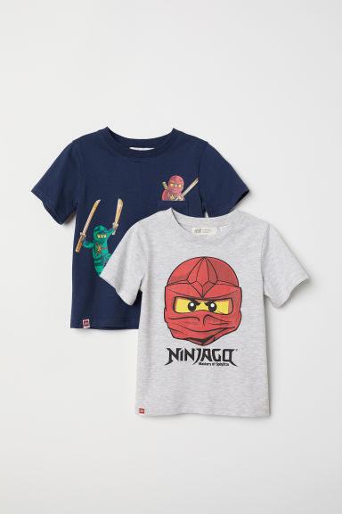 2-pack T-shirts - Grey/Ninjago -  | H&M