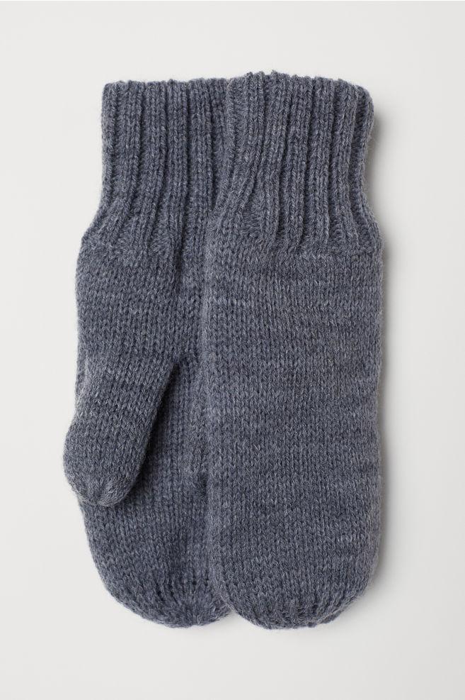 Fleece Lined Mittens Gray Hm Us