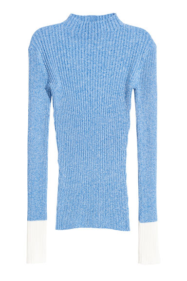Ribbed jumper - Blue marl -  | H&M CN