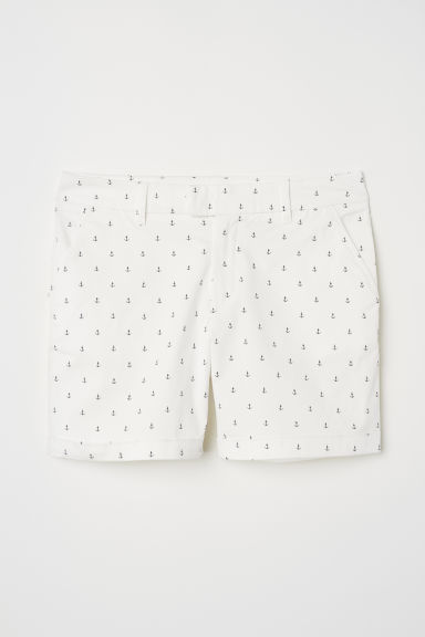 Short chino shorts - White/Anchors - Ladies | H&M CN