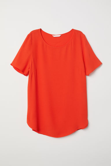 Crêpe top - Orange - Ladies | H&M CN