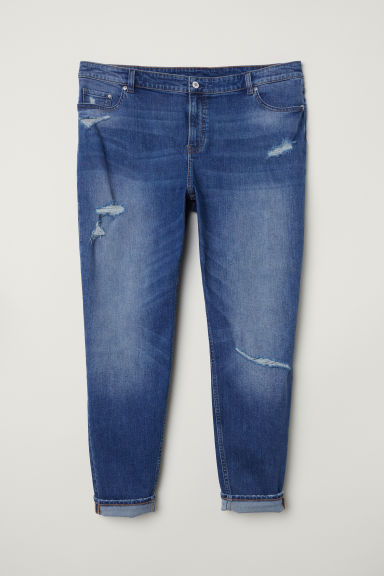 Girlfriend Regular Jeans - 牛仔蓝 -  | H&M CN
