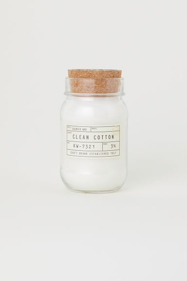 Doftljus i glasburk - Klarglas/Clean cotton -  | H&M FI