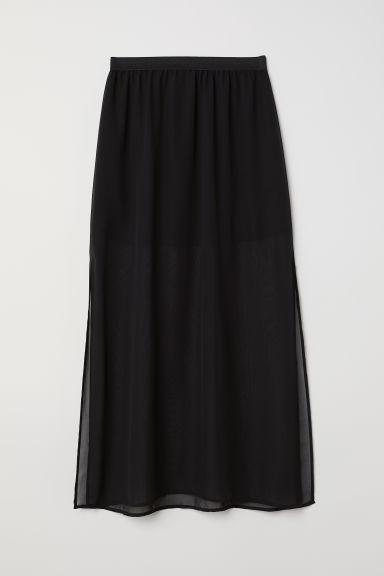 Maxi skirt - Black - Ladies | H&M CN
