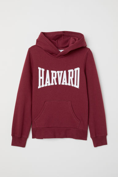 Printed hooded top - Burgundy - Kids | H&M