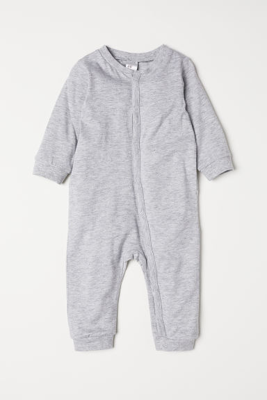 Cotton pyjamas - Light grey marl - Kids | H&M