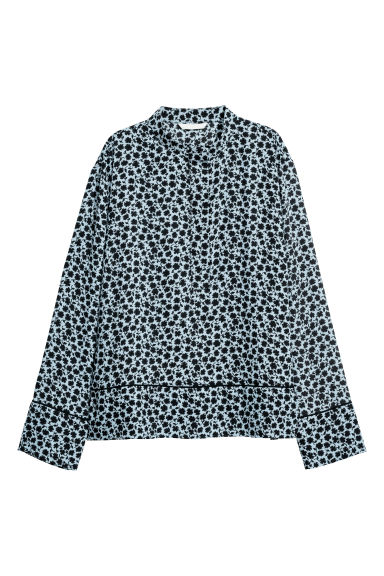 Patterned blouse - Light blue/Patterned -  | H&M CN