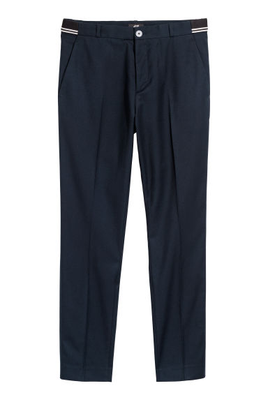 Suit trousers Slim fit - Dark blue - Men | H&M GB