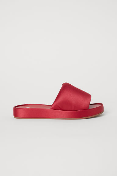 Satin mules - Red -  | H&M CN