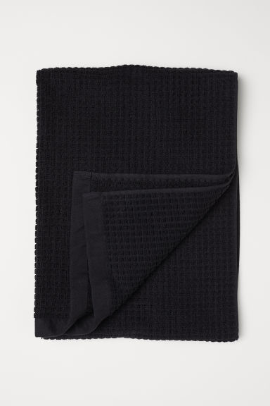 Serviette jacquard - Noir - Home All | H&M FR
