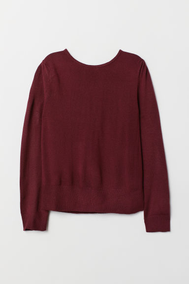 Pullover in maglia fine - Bordeaux - DONNA | H&M IT