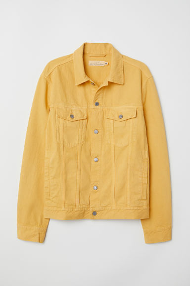 Denim jacket - Yellow - Men | H&M CN