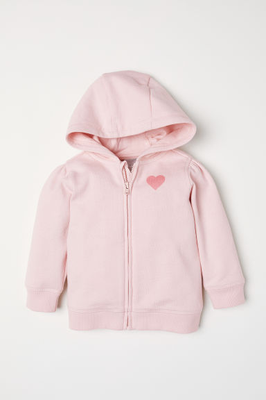 Hooded jacket - Light pink - Kids | H&M CN