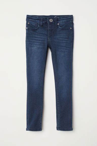 Skinny fit Satin Jeans - Blu denim scuro - BAMBINO | H&M IT