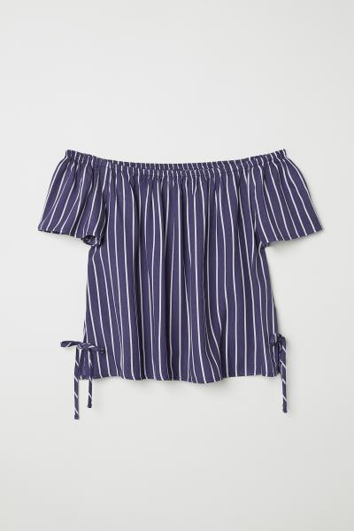 H&M - Off-the-shoulder blouse - 1