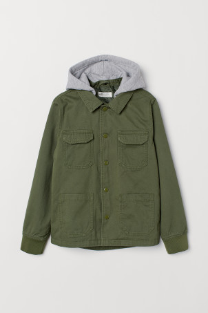 Hooded cargo jacket