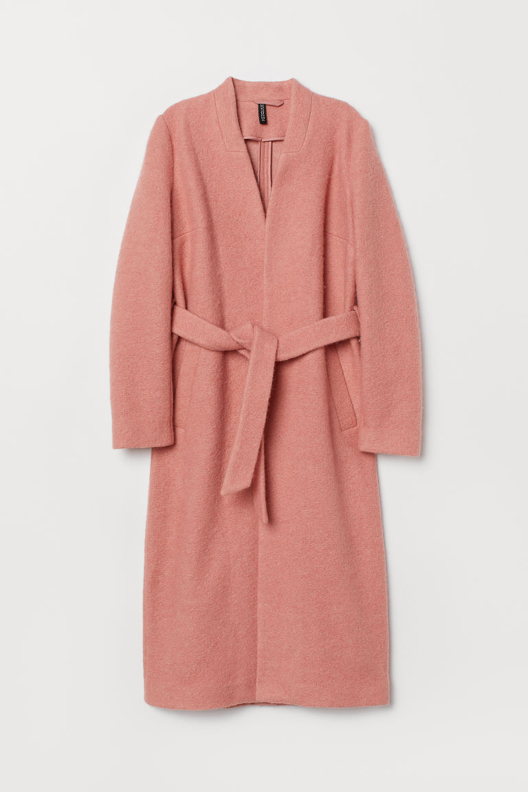 Wool-blend coat - Pink -  | H&M GB